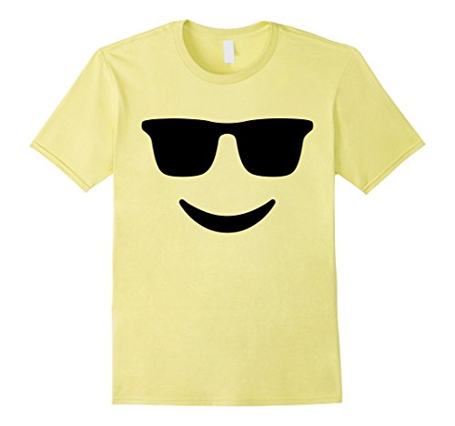 Mens Emoji TShirt With Sunglasses and a Smile