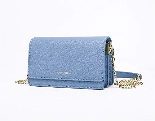 féminine bleue carré sac chaîne Version de coréenne d'épaule l'épaule Fashion petit la Derrière wqxX70