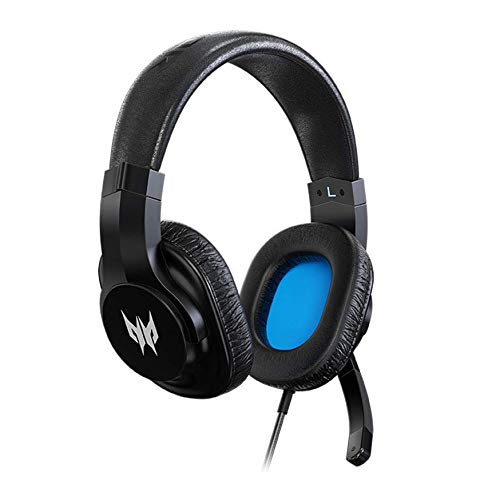 Acer Predator Galea 310 True Harmony Sound Gaming Headset: 40mm Drivers - Rotatable Omni-Directional Mic - Black, One size