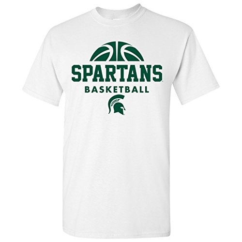 (Michigan State Spartans Basketball Hype Mens T-Shirt - Medium - White)
