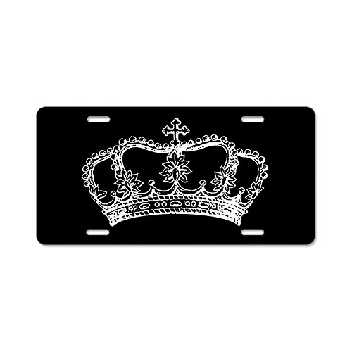 CafePress - Vintage Crown - Aluminum License Plate, Front License Plate, Vanity Tag Custom Novelty License Plate