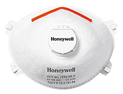 Honeywell 1015635 Medium/Large FFP3 with Valve and Facial Seal 5311 (Pack of 10