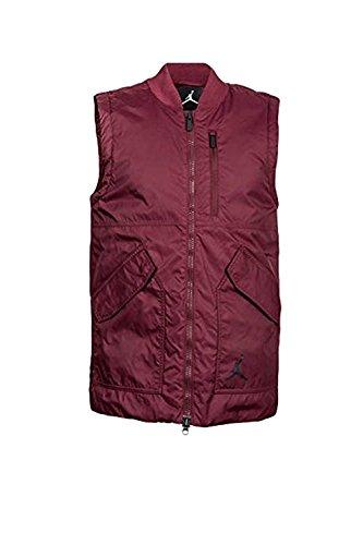 NIKE Men's Air Jordan Lifestyle Vest (XXXL, Night Maroon/Gym Red/Black) by NIKE