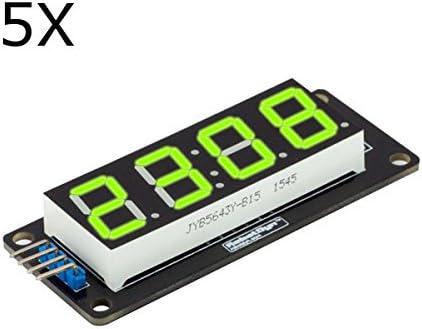 Ils 5 Piezas Green Display LED Módulo de 4 Dígitos de 7