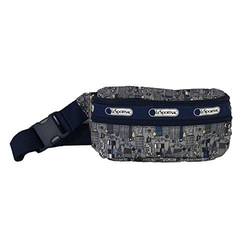 LeSportsac Double Zip Belt Bag Waist Pack, NYC Concrete Jungle