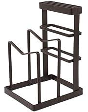UPKOCH soporte de tabla de cortar de metal de metal bloque de cuchillos organizador de cocina despensa estante para hornear estante para ollas