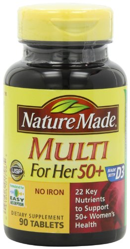 Nature Made Multi For Her 50+ Multiple Vitamin and Mineral,