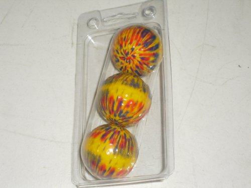 Yellow Blue Red Tie Dye Novelty Golf Ball Groovy – 3 Pack, Outdoor Stuffs