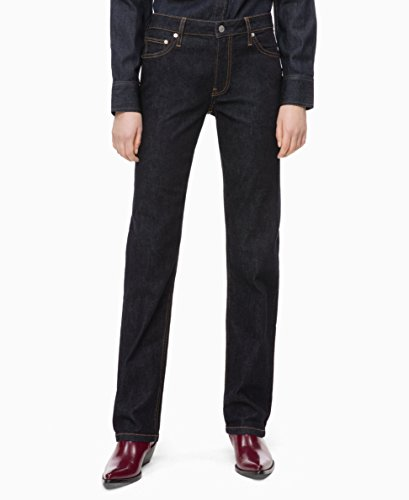 Calvin Klein Women's Mid Rise Straight Fit Jeans, Hamptons rinse, 31X32