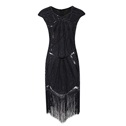 Clearance Renaissance Dress,Forthery Women 1920s Gastby Sequin Art Nouveau Embellished Fringed Flapper ()