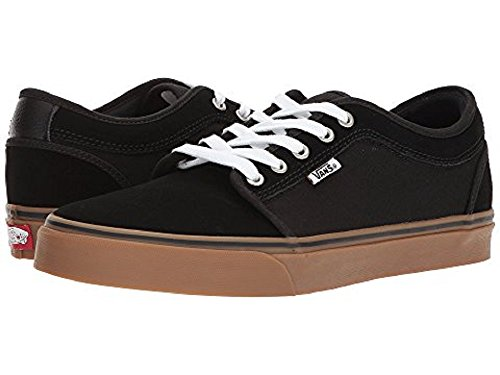 Vans Men's Chukka Low Black/Black/Gum Skate Shoe 7 US