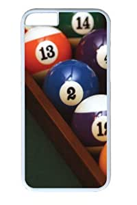 Billiards14 Polycarbonate Hard For Apple Iphone 4/4S Case Cover inch White