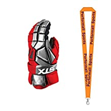 STX Bundle: Shadow Lacrosse Gloves + 1 Performall Sports Lanyard
