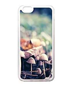 VUTTOO Iphone 6 Case, Forest Mushrooms Closeup Snap-On TPU TPU Transparent Bumper Case for Apple iPhone 6 4.7 Inch