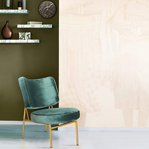 Mc Haus Sillón butaca Salón o Comedor OSHA Verde Pino, Telas, 43,5 x 63 x 76 cm