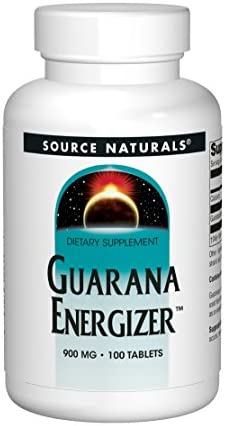 Source Naturals Guarana Energizer Dietary Supplement – Supports A Long Lasting Energy Boost – 100 Tablets