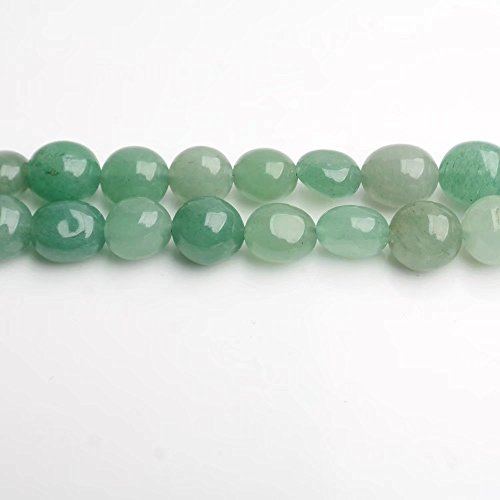 Semi Precious Nuggets (Natural Green Aventurine Semi Precious Stone Irregular Medium Size Nugget Chip Beads Bulk Supplies Sold by One Strand 15 Inch Apx 45 Pcs)