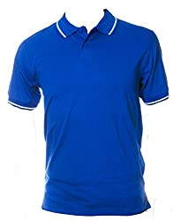 The Image Men's Golf Jersey Polo (Small, Black)