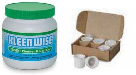 Waterwise 9000 6-Pack Filter Cups and Kleenwise Combo Pack