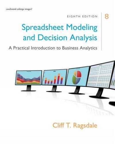 Spreadsheet Model.+Decision Analysis
