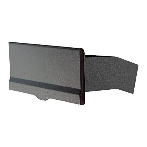 Mailbox Wall Blk (Qualarc LM6-810-BLK Letter Plate with 10