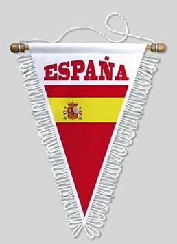 KOO Interactive-Banderín de triángulo España, 18 x 25 cm, diseño de escudo de fútbol: Amazon.es: Deportes y aire libre