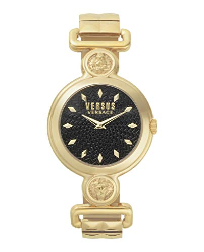 Versus by Versace Women's SUNNYRIDGE Extension Quartz Watch with Gold-Plated-Stainless-Steel Strap, 85 (Model: VSPOL3418) (Versace Bracelet)