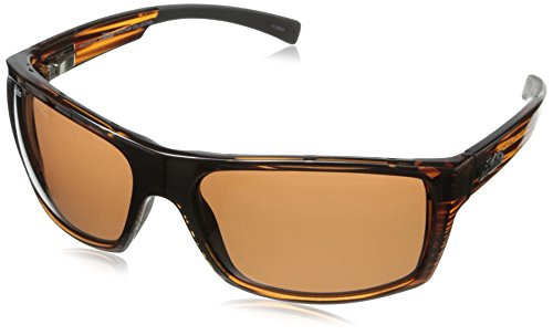 Hobie Baja Men's Rectangular Sunglasses,Shiny Brown Wood Grain,64 mm