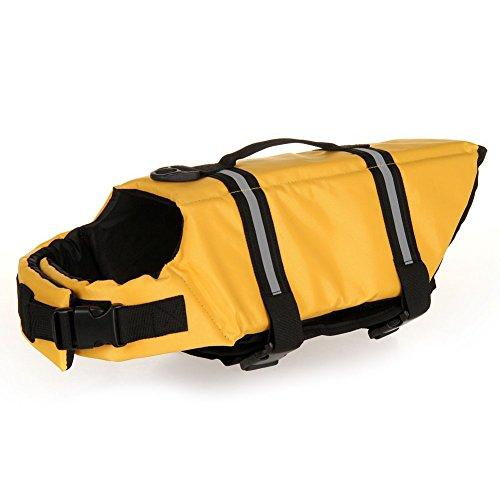 TESOON Designer Dog Life Jacket Pet Saver Vest Coat Floation Float Ait - Doggy Life Yellow Jacket