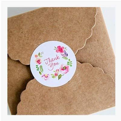 Label Design - Babelin 100pcs 3 5cm Flower Design Sticker