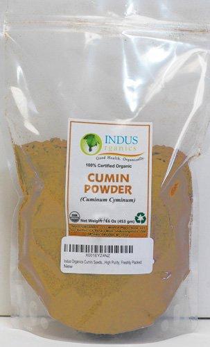 Indus Organics Cumin Seeds Powder, 1 Lb Bag, Premium Grade, High Purity, Freshly Packed