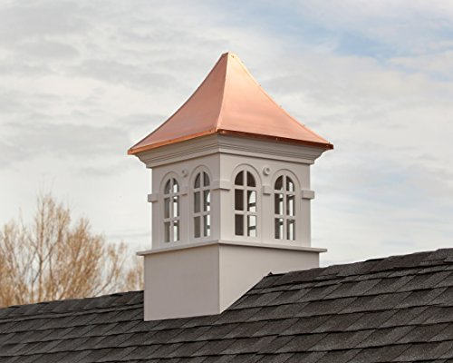 Smithsonian Stafford Vinyl Cupola with Copper Roof 36'' x 58'' by Good Directions by Good Directions (Image #1)