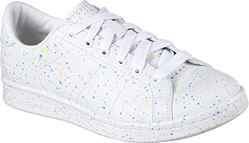 BOBS from SKECHERS Women's Onix - The Painter White/Blue - Inc Usa Painters
