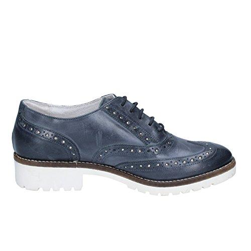cordones de Zapatos turquesa Crown mujer de para Piel Eq0twxvOnw