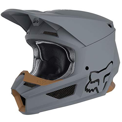 Fox V1 Matte Moto Helmet - Stone - 24370-224 (Stone - M)