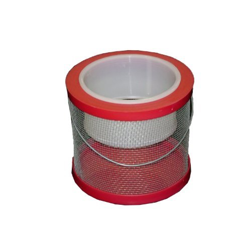 Challenge 50297 Round Cricket Cage, 6-Inch, Red by Challenge Plastics by Challenge Plastics