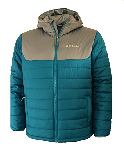 Columbia Men's Frost Fighter Insulated Warm Puffer Jacket, graphite, mountain red, M