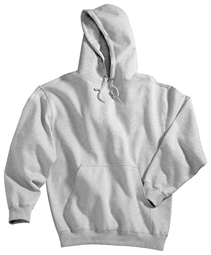 Finish 689 - Tri-mountain Cotton/poly sueded finish hooded sweatshirt. 689 - HEATHER GRAY_5XLT
