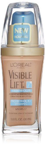 L'Oréal Paris Visible Lift Serum Absolute Foundation, Creamy Natural, 1 fl. oz.