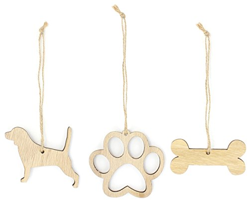 Beagle Christmas Ornament Dog Lover Gifts Wooden Christmas Ornaments 3-Piece Bundle ()