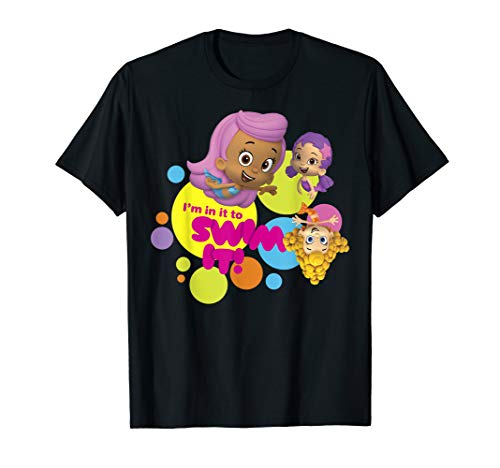 Bubble Guppies In It To Swim It! Colorful Dots Group Shot T-Shirt]()
