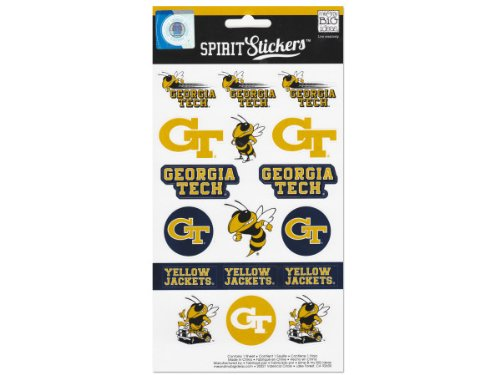 me & my BIG ideas Officially Licensed NCAA Spirit Stickers, Georgia Tech ()