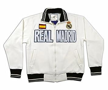 Sudadera Blanca del Real Madrid Surm09  Amazon.es  Deportes y aire libre 205af2817094a
