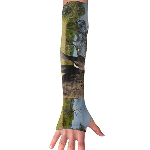Africa Elephant Green Trees Sun Sleeves,UV Protection Cooling Arm Sleeves For Men Women (1 Pair) by SuBenSM