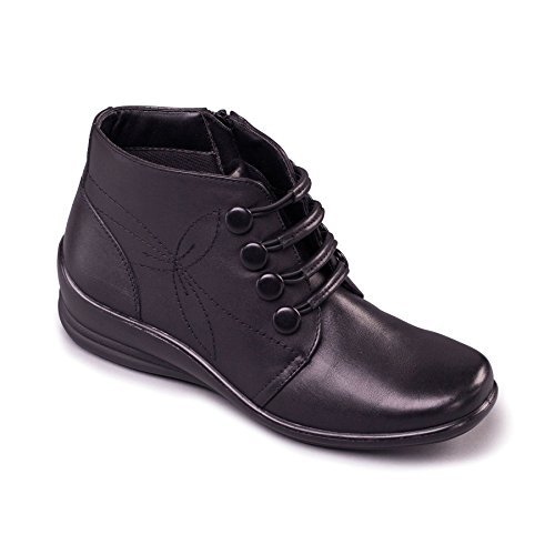 EE pied Talon 35 Dual E noir Padders Footcare UK pour de Free Système large Fit Coupe Botte femmes mm Avec 'Tanya' chausse 0fOTBBP4