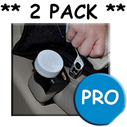 Black Baby Product 2 Pack Buckle Guard PRO Seat Belt Button Cover