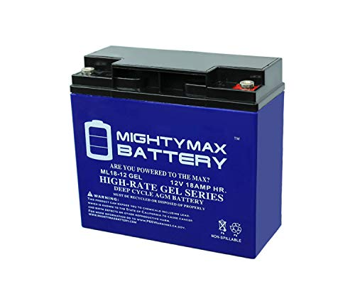 (Mighty Max Battery 12V 18AH Gel Battery for Boosterpac ES5000 Booster Brand Product)