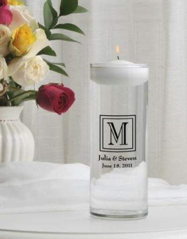 SKB Family H8 Second Marriage Floating Unity Candle Home Decor