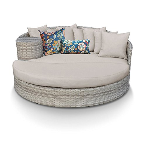 TK Classics Fairmont Chaise Lounges Sun Bed, Beige (Set Bed Fairmont)