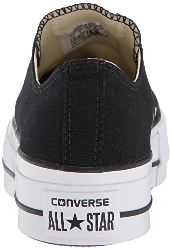 Low Converse Top Lift Sneaker White Canvas Black Women's White rq6twqHR
